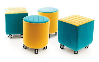 Jolly, soft furniture on the move