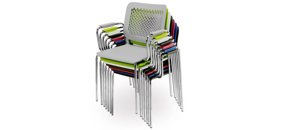 Malika meeting, training and conference chairs. Stackable