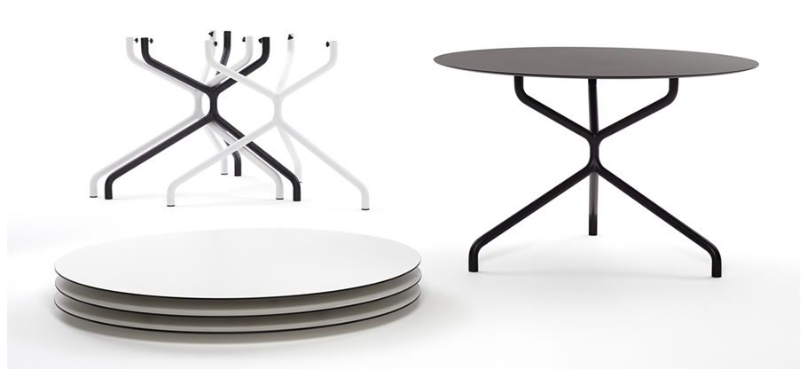 Ribaltino and Ribaltone tables. flip top, stackable