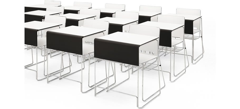 Smart is a high density, high impact scratch resistant, stacking table, for multipurpose use in meeting rooms, training facilities, conference rooms and educational environments
