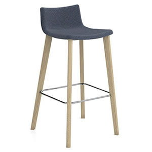 Miss #02. Bar stool with Upholstered seat