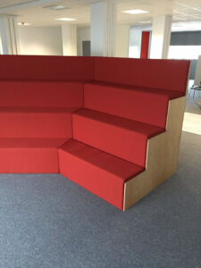 Upholstered Tiered seating