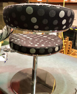 Bar stool recovery project