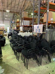 Chairs awaiting dispatch